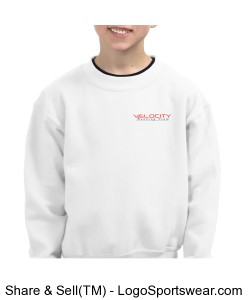 Team Velocity 7.75 ounce Youth Crew Neck Sweatshirt Design Zoom